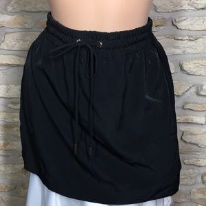 M Express Mini Short Skirt Black Elastic Waistband